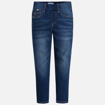 Джеггинсы (темно-синий)Одежда<br>Описание<br><br>Характеристики<br>Верх: 98% хлопок, 2% эластан<br>Производитель: MAYORAL (Испания)<br>Страна производства: Бангладеш<br>Модель производится в размерах: 2-9 лет<br>Коллекция: Весна/Лето 2018; Размеры в наличии: 2, 3, 4, 5, 6, 7, 8, 9.<br>