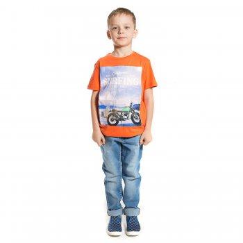 Комплект из 2-х футболок (оранжевый, синий)Одежда<br>Материал<br>Верх: 100% хлопок<br>Описание<br>Летний комплект для мальчиков состоит из двух футболок, выполненных из чистого хлопка. Оранжевая футболка украшена оригинальным принтом с изображением мотоцикла на фоне природы, темно-синяя футболка украшена принтом с надписями.<br>Производитель: MAYORAL (Испания)<br>Страна производства: Индия<br>Коллекция: Весна/Лето 2017<br>Модель производится в размерах: 10-18 лет; Размеры в наличии: 10, 12, 14, 16, 18.<br>
