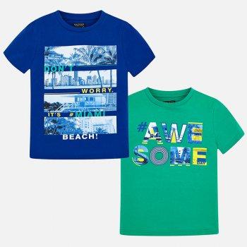 Mayoral Комплект из 2-х футболок (синий, зеленый) комплект футболок 2 шт freestyle revolution комплект футболок 2 шт