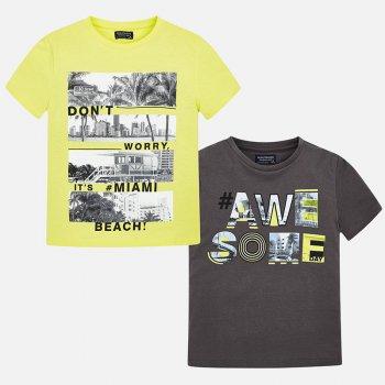 Mayoral Комплект из 2-х футболок (желтый, серый) комплект футболок 2 шт freestyle revolution комплект футболок 2 шт
