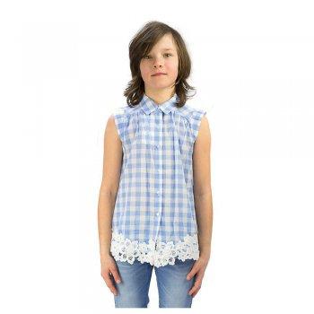 Рубашка (голубой в клетку)Одежда<br>Материал<br>Верх: 100% хлопок<br>Описание<br>Производитель: MAYORAL (Испания)<br>Страна производства: Китай<br>Коллекция: Весна/Лето 2016<br>Модель производится в размерах: 10-18 лет<br>; Размеры в наличии: 10, 12, 14, 16, 18.<br>