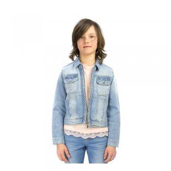 Куртка джинсовая (голубой с молнией)Куртки<br>Материал<br>Верх: 99% хлопок, 1% эластан<br>Описание<br>Производитель: MAYORAL (Испания)<br>Страна производства: Пакистан<br>Коллекция: Весна/Лето 2016<br>Модель производится в размерах: 10-18 лет<br>; Размеры в наличии: 10, 12, 14, 16, 18.<br>