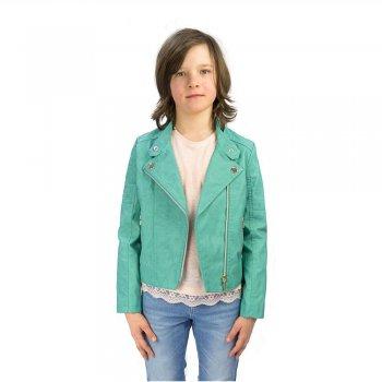 Куртка (бирюзовый)Куртки<br>Материал<br>Верх: 100% полиуретан<br>Подкладка: 100% полиэстер<br>Описание<br>Производитель: MAYORAL (Испания)<br>Страна производства: Китай<br>Коллекция: Весна/Лето 2016<br>Модель производится в размерах: 10-18 лет<br>; Размеры в наличии: 10, 12, 14, 16, 18.<br>