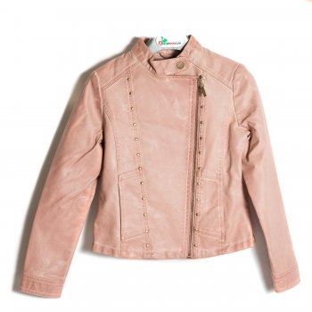 Куртка (розовый)Куртки<br>Материал<br>Верх: 100% полиуретан. Подкладка 100% полиэстер.<br>Описание<br>Куртка на теплую весну. Застежка-молния, у шеи кнопка. Манжеты на кнопках.<br>Производитель: MAYORAL (Испания)<br>Страна производства: Индия<br>Коллекция: Весна/Лето 2017<br>Модель производится в размерах: 10-18 лет; Размеры в наличии: 10, 12, 14, 16, 18.<br>