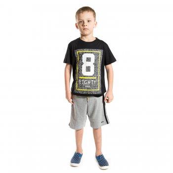 Комплект: футболка, шорты (черный с цифрой)Комбинезоны<br>Материал<br>Верх: 100% хлопок<br>Описание<br>Комплект для мальчиков выполнен из чистого хлопка и включает в себя футболку и шорты. Однотонная футболка украшена рисунком с цифрой и надписью. Шорты  дополнены задним накладным карманом и широким эластичным поясом с регулируемой завязкой-шнурком.<br>Производитель: MAYORAL (Испания)<br>Страна производства: Индия<br>Коллекция: Весна/Лето 2017<br>Модель производится в размерах: 10-18 лет; Размеры в наличии: 10, 12, 14, 16, 18.<br>
