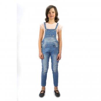 Джинсы с грудкой (голубой)Одежда<br>Материал<br>Верх: 98% хлопок 2% эластан<br>Описание<br>Производитель: MAYORAL (Испания)<br>Страна производства: Бангладеш<br>Коллекция: Весна/Лето 2016<br>Модель производится в размерах: 10-18 лет<br>; Размеры в наличии: 10, 12, 14, 16, 18.<br>