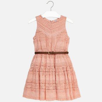 Mayoral Платье с ремнем (персиковый) платье marrushka цвет персиковый