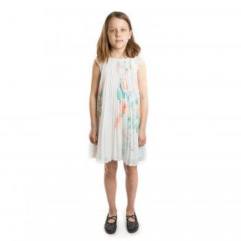 Платье ( белый)Одежда<br>Материал<br>Верх: 100% полиэстер <br>Подкладка: 80% полиэстер, 20% хлопок<br>Описание<br>Производитель: MAYORAL (Испания)<br>Страна производства: Китай<br>Коллекция: Весна/Лето 2016<br>Модель производится в размерах: 10-14 лет; Размеры в наличии: 10, 12, 14.<br>