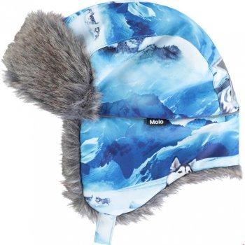 Шапка-ушанка Natt (голубой с хаски) от Molo, арт: 46453 - Одежда