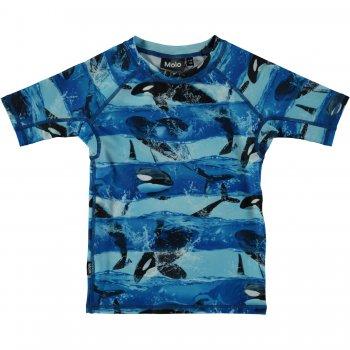 Футболка для пляжа Neptune (голубой с косаткой)Одежда<br>; Размеры в наличии: 98/104, 110/116, 122/128, 134/140, 146/152, 158/164.<br>