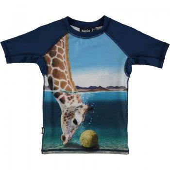 Купить Футболка для пляжа Neptune (синяя с жирафом), Molo