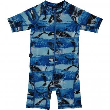 Комбинезон для плавания Neka (голубой с касатками)Одежда<br>; Размеры в наличии: 74/80, 86/92, 92/98, 98/104, 110/116.<br>