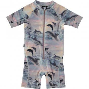 Купить Комбинезон для плавания Neka (розовый с дельфинами), Molo
