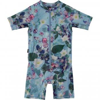 Купить Комбинезон для плавания Neka (голубой с цветами), Molo
