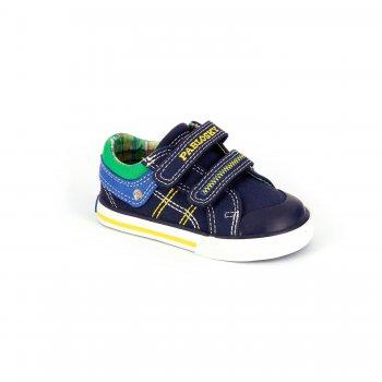 Кеды (синий с зеленым)Обувь<br>Материал<br>Верх: текстиль, искусственные материалы. <br>Подкладка: текстиль, стелька - текстиль.<br>Подошва: полимерные материалы. <br>Описание<br>Красивые кеды для теплой и сухой погоды. Кеды Pablosky по праву можно считать одними из лучших. Оригинальный дизайн, отличное качество, вентилируемая стелька, достаточно жесткий задник, подошва и подкладка с красивыми рисунками в общем стиле с дизайном верха - это далеко не все их достоинства. Такие кеды пригодятся в любой сезон - зимой их можно носить в качестве сменной обуви в садик или на физкультуру. <br>Производитель: Pablosky (Испания).<br>Коллекция Весна-Лето 2016<br>Страна производства: Китай.<br>Температурный режим<br>От +10 градусов и выше.<br>; Размеры в наличии: 20, 21, 22, 23, 24, 25, 26, 27.<br>