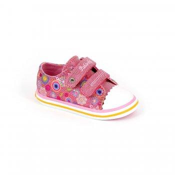 Кеды (розовый)Обувь<br>Материал<br>Верх: текстиль, искусственные материалы. <br>Подкладка: текстиль, стелька - текстиль.<br>Подошва: полимерные материалы. <br>Описание<br>Красивые кеды для теплой и сухой погоды. Кеды Pablosky по праву можно считать одними из лучших. Оригинальный дизайн, отличное качество, вентилируемая стелька, достаточно жесткий задник, подошва и подкладка с красивыми рисунками в общем стиле с дизайном верха - это далеко не все их достоинства. Такие кеды пригодятся в любой сезон - зимой их можно носить в качестве сменной обуви в садик или на физкультуру. <br>Производитель: Pablosky (Испания).<br>Коллекция Весна-Лето 2016<br>Страна производства: Китай.<br>Температурный режим<br>От +10 градусов и выше.<br>; Размеры в наличии: 20, 21, 22, 23, 24, 25, 26, 27.<br>