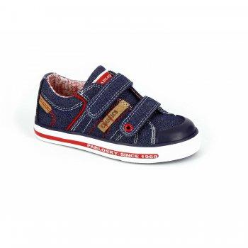 Кеды (темно-синий)Обувь<br>Материал<br>Верх: текстиль, искусственные материалы. <br>Подкладка: текстиль, стелька - натуральная кожа.<br>Подошва: полимерные материалы. <br>Описание<br>Красивые кеды для теплой и сухой погоды. Кеды Pablosky по праву можно считать одними из лучших. Оригинальный дизайн, отличное качество, вентилируемая стелька, достаточно жесткий задник - это далеко не все их достоинства. Такие кеды пригодятся в любой сезон - зимой их можно носить в качестве сменной обуви в садик или на физкультуру. <br>Производитель: Pablosky (Испания).<br>Коллекция Весна-Лето 2017<br>Страна производства: Китай.<br>Температурный режим<br>От +10 градусов и выше.; Размеры в наличии: 25, 26, 27, 28, 29, 30, 31, 32, 33, 34, 35, 36.<br>