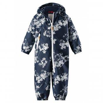 Комбинезон утепленный Dropple (синий с цветами)Комбинезоны<br>Классический весенний комбинезон фирмы Reima для малышей. Есть очень симпатичные расцветки, как для мальчиков, так и для девочек. <br>В модели 80 г утеплителя и он подойдет на температуру от +5 до +15 градусов или даже от 0 градусов, но в этом случае обязательно одевать теплую поддеву. <br>Удлиненная молния поможет маме одеть или раздеть малыша, который сладко уснул, не потревожив. <br>Плотные трикотажные штрипки надежно фиксируют штанины на ботинках, не позволяя им задираться. <br>Водонепроницаемость составляет 8000 мм, поэтому вы сможете не переживать за малыша, если он захочет погулять под весенним дождиком. <br>Регулировка на талии и манжеты на резинках сохранят тепло, а капюшон на кнопках и светоотражающие элементы обеспечат безопасность.<br><br>   капюшон отстегивается с помощью кнопок, защита подбородка от защемления, карманы на молнии, манжеты на резинке, утяжка на талии, подол штанин на резинке, трикотажные съемные штрипки, светоотражающие элементы, удлиненная молния.   Верх: 100% полиэстер.<br> Утеплитель: 80 грамм (утеплитель Reima Soft Loft, 100% полиэстер).<br> Подкладка: 100% полиэстер<br> Водонепроницаемость: 8000 мм<br> Паропроводимость: 7000 г/м2/24ч<br> Износостойкость: 30000 об.<br> Производитель: Reima (Финляндия)<br> Страна производства: Китай<br> Модель производится в размерах: 74-98<br> Коллекция: Весна-Лето 2018<br><br> Температурный режим <br> От 0 градусов и выше.; Размеры в наличии: 74, 80, 86, 92, 98.<br>
