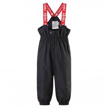 Брюки для малышей ReimaTec Tuikku (черный)Полукомбинезоны, штаны<br>Материал:<br>Верх: 100% полиэстер<br>Утеплитель: нет<br>Подкладка: 100% полиэстер<br>Водонепроницаемость: 15000 мм<br>Паропроводимость: 5000 г/м2/24ч<br>Износостойкость: 40 000 об.<br>Описание:<br>Демисезонные брюки на погоду от +10 градусов. Весенние брюки идут в размер, то есть примерно +- 3 см. Модель отлично подойдет для прогулок в дождливую погоду: водонепроницаемость 15 000 мм и проклеенные швы - двойная защита от влаги, а грязеотталкивающая пропитка сделает уход за детской одеждой легким и удобным - большинство загрязнений убирается влажной тряпочкой. В брюках предусмотрены светоотражающие элементы для безопасности в темное время суток. <br>Функциональные элементы: регулируемые лямки, пояс на резинке, подол штанин на резинке, съемные силиконовые штрипки, светоотражающие элементы. <br>Производитель: Reima (Финляндия)<br>Страна производства: Китай <br>Модель производится в размерах 74-98<br>Коллекция: Весна/Лето 2017<br>Температурный режим:  <br> от + 10 градусов и выше; Размеры в наличии: 86, 92, 98.<br>