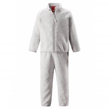 Флисовый комплект Tahto (светло-серый)Одежда<br>Производитель: Reima (Финляндия)<br> Страна производства: Китай<br> Коллекция: Осень-Зима 2017<br> Модель производится в размерах: 80-98<br>  <br> Верх: 100% полиэстер (флис).<br><br> Температурный режим <br> От +15 градусов и выше либо в качестве поддевы под верхнюю одежду; Размеры в наличии: 80, 86, 92, 98.<br>