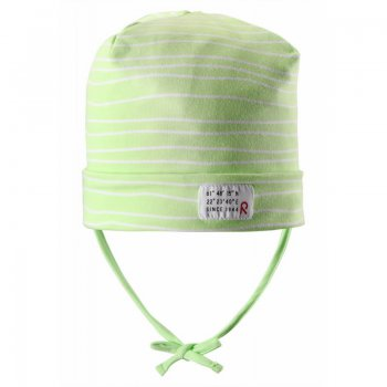 Шапка для малышей Fennel (зеленый в полоску)Одежда<br>; Размеры в наличии: 50, 52.<br>