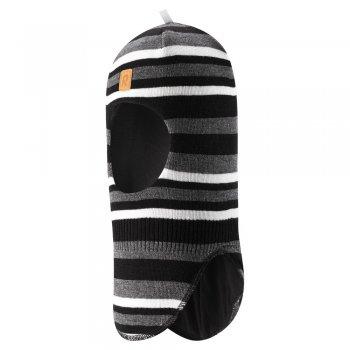 Reima Шлем утепленный Simo (черный в полоску)