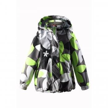 Reimatec Куртка Sundae (серый с цветами)Куртки<br>Материал:<br>Верх: 100% полиэстер<br>Утеплитель: нет<br>Подкладка: 100% полиэстер (сетка)<br>Водонепроницаемость: водонепроницаемая мембрана (100% полиуретан)-15000 мм<br>Износостойкость: 35000 об.<br>Паропроводимость : 5000 мм/м2/24ч.<br>Описание:<br>Функциональные элементы: капюшон отстегивается с помощью кнопок, защитная планка на липучке, защита подбородка от защемления, карманы на молнии, манжеты на резинке, кнопки для крепления промежуточного слоя, утяжка по подолу, светоотражающие элементы.<br>Производитель: Reima (Финляндия)<br>Страна производства: Китай<br>Коллекция: Весна/Лето 2016<br>Температурный режим:<br>от +10 градусов и выше.<br>; Размеры в наличии: 104, 110, 116, 122, 128, 134, 140.<br>