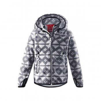 Куртка SoftShell Ajatus (серый орнамент)Куртки<br>Материал:<br>Верх: 100% полиэстер.<br>Утеплитель: нет<br>Подкладка: 100% полиэстер<br>Водонепроницаемость: 5000 мм<br>Паропроводимость: 3000 г/м2/24ч<br>Износостойкость: нет данных<br>Описание:<br>Функциональные элементы: <br>Производитель: Reima (Финляндия)<br>Страна производства: Китай<br>Модель производится в размерах: 92-140<br>Коллекция: Осень-Зима 2016<br>Температурный режим:<br>От +7 градусов и выше; Размеры в наличии: 104, 110, 116, 122, 128, 134, 140.<br>