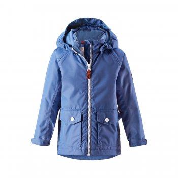 Куртка Knot (голубой)Куртки<br>Материал:<br>Верх: 100% полиэстер<br>Утеплитель: 80 грамм<br>Подкладка: 100% полиэстер<br>Водонепроницаемость: 8000 мм<br>Паропроводимость: 5000 г/м2/24ч<br>Износостойкость: 30 000 об.<br>Описание:<br>Куртка для детей и подростков на температуру от 0 до +10 градусов. Стильная удлиненная модель с накладными карманами подойдет как для школы, так и для прогулок. Куртка Knot продумана для комфорта: мембрана 8 000 мм надежно защитит от влаги, а регулируемые манжеты и подол куртки - от ветра. Выбирая размер, обратите внимание, что одежда Reima шьется с запасом на вырост 5 см<br>Функциональные элементы: отстегивающийся капюшон на кнопках, защита подбородка от защемления, два накладных кармана с клапанами на кнопках, манжеты на резинке и регулируются липучкой, светоотражающие элементы, утяжка по подолу.<br>Производитель: Reima (Финляндия)<br>Страна производства: Китай <br>Модель производится в размерах 92-164<br>Коллекция: Весна/Лето 2017<br>Температурный режим:  <br> от 0 градусов и выше; Размеры в наличии: 92, 98, 104, 110, 116, 122, 128, 134, 140, 146, 152, 158, 164.<br>