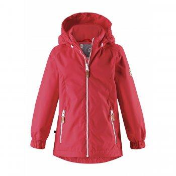 Куртка утепленная Anise (красный)Куртки<br>Описание: <br>Очень красивая утепленная куртка для девочек от 3 до 10 лет представлена в двух расцветках – бирюзовый с цветами и красный. <br>Куртка слегка удлинена сзади, имеет манжеты на резинке, небольшую утяжку на поясе и возможность утяжки по подолу, чтобы защитить ребенка от ветра и холода.<br>Водонепроницаемость 8000 мм позволяет носить куртку во влажную погоду и оставаться в тепле и сухости.<br>В куртке 80 г утеплителя и ее можно носить с теплой поддевой от 0 градусов и примерно до +15.<br>Капюшон на кнопках, защита подбородка от защемления и светоотражающие элементы создают дополнительную безопасность, которая очень необходима.<br>Функциональные элементы: капюшон отстегивается с помощью кнопок, защита подбородка от защемления, карманы на молнии, манжеты на резинке, утяжка по подолу, светоотражающие элементы. <br>Характеристики: <br>Верх: 100% полиэстер.<br>Утеплитель: 80 грамм (утеплитель Reima Soft Loft, 100% полиэстер).<br>Подкладка: 100% полиэстер<br>Водонепроницаемость: 8000 мм<br>Паропроводимость: 7000 г/м2/24ч<br>Износостойкость: 30000 об.<br>Производитель: Reima (Финляндия)<br>Страна производства: Китай<br>Модель производится в размерах: 92-140<br>Коллекция: Весна-Лето 2018<br>Температурный режим: <br>От 0 градусов и выше.; Размеры в наличии: 98, 104, 110, 116, 122, 128, 134, 140.<br>