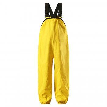 Брюки прорезиненные Lammikko (желтый)Одежда<br>Описание: <br>Этот полукомбинезон просто находка для маленьких любителей луж и их родителей! Он сделан из прорезиненного материала, который гарантирует полную защиту от промокания. На выбор представлены 4 яркие расцветки, котоые подойдут как девочкам, так и мальчикам. <br>Функциональные элементы: <br>Материал: <br>Верх: 100% полиуретан<br>Утеплитель: нет<br>Подкладка: 100% полиэстер<br>Водонепроницаемость : 10 000 мм, швы сварены<br>Производитель: Reima (Финляндия)<br>Страна производства: Китай<br>Модель производится в размерах: 74-128<br>Коллекция: Весна/Лето 2017<br>Температурный режим: <br>от + 10 градусов и выше.; Размеры в наличии: 74, 80, 86, 92, 98, 104, 110, 116, 122, 128.<br>