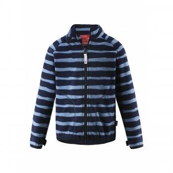 Флисовая кофта Steppe (синий в полоску)Одежда<br>Производитель: Reima (Финляндия)<br> Страна производства: Китай<br> Коллекция: Осень-Зима 2017<br> Модель производится в размерах: 92-140<br>  <br> Верх: 100% полиэстер (флис).<br><br> Температурный режим <br> От +15 градусов как самостоятельную вещь или в любую погоду в качестве промежуточного слоя; Размеры в наличии: 104, 110, 116, 122, 128, 134, 140.<br>