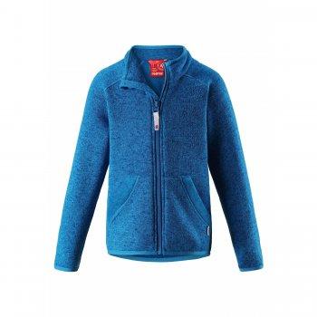 Флисовая кофта Hopper (голубой)Одежда<br>Производитель: Reima (Финляндия)<br> Страна производства: Китай<br> Коллекция: Осень-Зима 2017<br> Модель производится в размерах: 92-140<br>  <br> Верх: 100% полиэстер (флис).<br><br> Температурный режим <br> От +15 градусов как самостоятельную вещь или в любую погоду в качестве промежуточного слоя; Размеры в наличии: 104, 110, 116, 122, 128, 134, 140.<br>