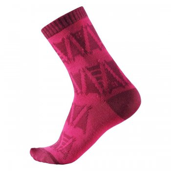 Носки Sturm (розовый с орнаментом)Одежда<br>Материал: <br>Верх: 55% шерсть, 35% полиэстер, 8% полиамид, 2% эластан<br>Описание: <br>Легкая ткань из смеси шерсти, быстро сохнет и сохраняет тепло.<br>Производитель: Reima (Финляндия)<br>Страна производства: Китай<br>Коллекция: Осень-Зима 2017<br>; Размеры в наличии: 22, 26, 30, 34.<br>