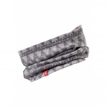 Шарф-хомут Ellivaara (серый с принтом)Одежда<br>; Размеры в наличии: 50, 54.<br>