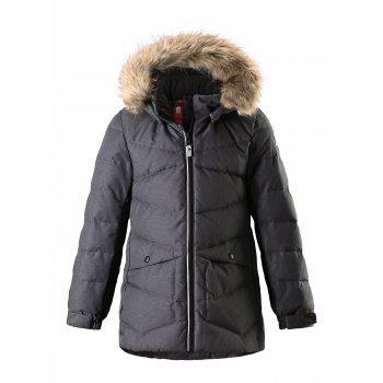Пуховик Leena (темно-серый)Куртки<br>; Размеры в наличии: 104, 110, 116, 122, 128, 134, 140, 146, 152, 158, 164.<br>