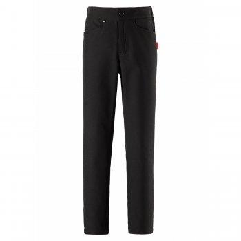 Брюки Softshell Idea (черный)Полукомбинезоны, штаны<br>Демисезонные брюки для девочек из высокотехнологичного материала Softshell. Внешний слой обладает водоотталкивающими свойствами, может выдержать непродолжительный дождь и мокрый снег, внутренняя флисовая поверхность отлично сохраняет тепло и отводит излишнюю влагу от тела во время двигательной активности. Зауженный крой делает эти брюки универсальным вариантом как для прогулок на природе, так и для города. Светоотражающие элементы делают ребенка более заметным на дороге. Объем талии регулируется с помощью утяжки для идеальной посадки по фигуре. Внутри на поясе расположен кармашек для датчика активности ReimaGO®.<br> Стильные брюки для подростков из материала Softshell<br> Производитель: Reima (Финляндия)<br> Страна производства: Китай<br> Коллекция: Осень-Зима 2017<br> Модель производится в размерах 122-170<br>  <br> Верх: 100% полиэстер.<br> Утеплитель: нет<br> Подкладка: 100% полиэстер (флис)<br> Водонепроницаемость: 10000 мм<br> Паропроводимость: 5000 г/м2/24ч<br> Износостойкость: нет<br><br> Температурный режим <br> от +7 до -5 градусов; Размеры в наличии: 122, 128, 134, 140, 146, 152, 158, 164.<br>