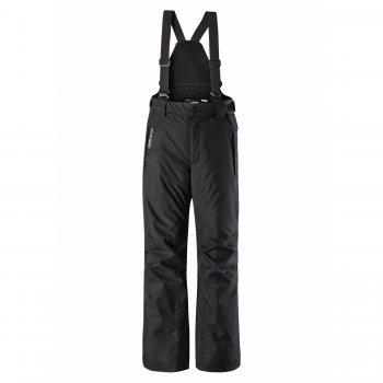 Брюки Reimatec Wingon (черный)Полукомбинезоны, штаны<br>Материал: <br>Верх: 100% полиэстер.<br>Утеплитель: 100 грамм (100% полиэстер).<br>Подкладка: 100% полиэстер<br>Водонепроницаемость: 15000 мм<br>Паропроводимость: 7000 г/м2/24ч<br>Износостойкость: 40000 об., износостойкие вставки 80000 об.<br>Описание: <br>Функциональные элементы: регулируемые лямки, отстегивающиеся лямки, пояс на резинке, регулируется липучкой, карманы на молнии, снежные гетры, светоотражающие элементы. <br>Производитель: Reima (Финляндия)<br>Страна производства: Китай<br>Модель производится в размерах: 92-164<br>Коллекция: Осень-Зима 2017<br>Температурный режим: <br>от +5 до -10 градусов; Размеры в наличии: 146, 152, 158, 164.<br>