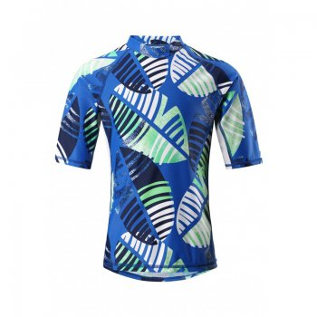 Футболка для пляжа Fiji (синий с зеленым)Одежда<br>; Размеры в наличии: 104, 110, 116, 116, 122, 128, 134, 140, 146, 152, 158, 164.<br>