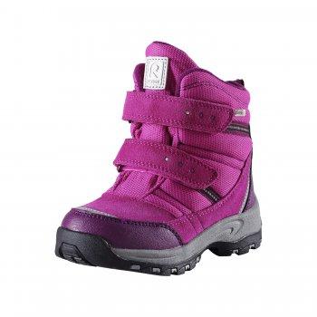 Ботинки Visby (розовый)Обувь<br>Материал<br>Верх: водоотталкивающая замша, текстиль.<br>Подкладка: искусственный мех, стелька из войлока<br>Подошва: каучук<br>Описание: <br>Функциональные элементы: съемные стельки, застежка на две липучки, светоотражающие детали<br>Производитель: Reima (Финляндия)<br>Страна производства: Китай<br>Коллекция: Осень-Зима 2016<br>Температурный режим: <br>от +5 до -10 градусов<br>; Размеры в наличии: 24, 25, 26, 27, 28, 29, 30, 31, 32, 33, 34, 35.<br>