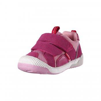 Ботинки Knappe (розовый)Обувь<br>Материал:<br>Верх:  искусственная замша, текстиль<br>Подкладка: текстиль<br>Подошва: термопластичная резина<br>Описание:<br>Легкие, гибкие, практичные ботинки для малышей на температуру от +10 градусов.  Выполнены из высококачественных материалов. Застежка на липучке позволит без труда надеть обувь. Подошва из термопластичной резины не скользит на любой поверхности, а специальная пропитка защитит от попадания влаги внутрь в ненастную погоду. <br>Функциональные элементы: застежка на 2 липучки, усиленный мыс.<br>Производитель: Reima (Финляндия)<br>Страна производства: Китай <br>Модель производится в размерах 20-27<br>Коллекция: Весна/Лето 2017<br>Температурный режим:  <br> от +10  до + 20 градусов; Размеры в наличии: 20, 21, 22, 23, 24, 25, 26, 27.<br>