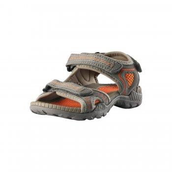 Сандалии Luft (серый)Обувь<br>Материал: <br>Верх:  искусственная замша, текстиль<br>Подкладка: текстиль<br>Подошва: термопластичная резина<br>Описание: <br>Дышащие  сандалии легко надевать и застегивать. Застежка на трех ремешках позволяет максимально удобно отрегулировать сандалии точно по ноге. Благодаря текстильной подкладке  не натирают ногу. <br>Функциональные элементы: мягкие материалы подкладки, застежка на 2 липучки.<br>Производитель: Reima (Финляндия)<br>Страна производства: Китай <br>Модель производится в размерах 28-38<br>Коллекция: Весна/Лето 2017<br>Температурный режим:  <br> от +20 градусов  и выше; Размеры в наличии: 28, 29, 30, 31, 32, 33, 34, 35, 36, 37, 38.<br>