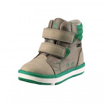 Ботинки Patter (бежевый)Обувь<br>Материал: <br>Верх: водоотталкивающая замша, текстиль.<br>Подкладка: текстиль<br>Подошва: каучук<br>Описание: <br>Вот он - настоящий хит  весны и осени. Идеальный вариант на температуру от сразу после зимних и до кроссовок, то есть от 0 до +15 (для малоподвижных малышей от +5) градусов.  Благодаря специальной грязе- и водоотталкивающей пропитке ReimaTec Ваш ребенок может спокойно гулять по лужам без риска промокнуть.<br>Функциональные элементы: застежка на 2 липучки, вынимающаяся стелька с поддержкой пятки, пропитка ReimaTec. От 31 размера застежка на 3х липучках.<br>Производитель: Reima (Финляндия)<br>Страна производства: Китай <br>Модель производится в размерах 20-35<br>Коллекция: Весна/Лето 2017<br>Температурный режим:  <br> от 0 до + 10 градусов; Размеры в наличии: 20, 21, 22, 23, 24, 25, 26, 27, 28, 29, 30, 31, 32, 33, 34, 35.<br>