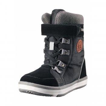 Сапоги Reimatec Freddo (черный)Обувь<br>Производитель: Reima (Финляндия)<br> Страна производства: Китай<br> Модель производится в размерах: 28-38<br> Коллекция: Осень-Зима 2017<br>   съемные стельки, эластичные шнурки, застежка молния <br> Верх: водоотталкивающая замша, текстиль.<br> Подкладка: искусственный мех, стелька из войлока<br> Подошва: каучук<br><br> Температурный режим <br> от +5 до -10 градусов; Размеры в наличии: 28, 29, 30, 31, 32, 33, 34, 35, 36, 37, 38.<br>