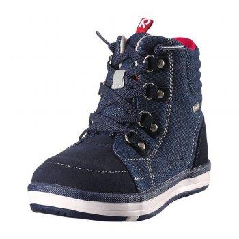 Ботинки Reimatec Wetter Jeans (голубой)Обувь<br>Материал<br>Верх: водоотталкивающая замша, текстиль.<br>Подкладка: текстиль<br>Подошва: каучук<br>Описание: <br>Функциональные элементы: <br>Производитель: Reima (Финляндия)<br>Страна производства: Китай<br>Модель производится в размерах: 31-38<br>Коллекция: Осень-Зима 2017<br>Температурный режим: <br>от 0 до +10 градусов<br>; Размеры в наличии: 29, 30, 31, 32, 33, 34, 35, 36, 37, 38.<br>