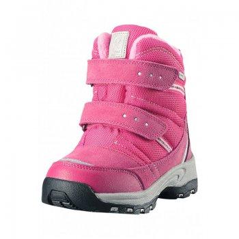 Ботинки Reimatec Visby (розовый)Обувь<br>Материал<br>Верх: текстиль, водоотталкивающая замша<br>Подкладка: искусственный мех, стелька из войлока<br>Подошва: каучук<br>Описание: <br>Функциональные элементы: <br>Производитель: Reima (Финляндия)<br>Страна производства: Китай<br>Модель производится в размерах: 24-35<br>Коллекция: Осень-Зима 2017<br>Температурный режим: <br>от +5 до -10 градусов; Размеры в наличии: 24, 25, 26, 27, 28, 29, 30, 31, 32, 33, 34, 35.<br>