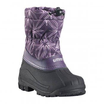 Сноубутсы Nefar (фиолетовый)Обувь<br>Материал<br>Верх: текстиль<br>Подкладка: искусственный мех<br>Подошва: калоша-каучук<br>Описание: <br>Функциональные элементы: <br>Производитель: Reima (Финляндия)<br>Страна производства: Китай<br>Модель производится в размерах: 24-35<br>Коллекция: Осень-Зима 2017<br>Температурный режим: <br>от +5 до -5 градусов; Размеры в наличии: 24, 25, 26, 27, 28, 29, 30, 31, 32, 33, 34, 35.<br>