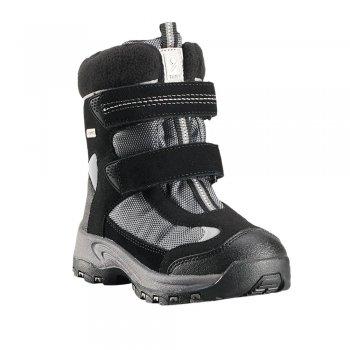 Ботинки Kinos (черный)Обувь<br>Материал<br>Верх: текстиль, водоотталкивающая замша<br>Подкладка: смесь шерсти, стелька из войлока<br>Подошва: каучук<br>Описание: <br>Функциональные элементы: <br>Производитель: Reima (Финляндия)<br>Страна производства: Китай<br>Модель производится в размерах: 24-35<br>Коллекция: Осень-Зима 2017<br>Температурный режим: <br>от +5 до -10 градусов; Размеры в наличии: 24, 25, 26, 27, 28, 29, 30, 31, 32, 33, 34, 35.<br>