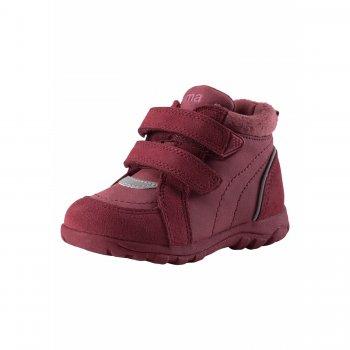 Ботинки Lotte (фуксия)Обувь<br>Материал<br>Верх: текстиль, водоотталкивающая замша<br>Подкладка: текстиль<br>Подошва: каучук<br>Описание: <br>Функциональные элементы: <br>Производитель: Reima (Финляндия)<br>Страна производства: Китай<br>Модель производится в размерах: 20-27<br>Коллекция: Осень-Зима 2017<br>Температурный режим: <br>от +5 до +15 градусов; Размеры в наличии: 20, 21, 22, 23, 24, 25, 26, 27.<br>