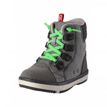 Ботинки Wetter (серый)Обувь<br>Описание: <br>Стильные и практичные ботинки отлично подойдут для весны. <br>Переживут и лужи и грязь, ведь у них имеется водонепроницаемая вставка с запаянными швами и подкладкой из текстиля. Верх ботинок сделан из износостойкого нейлона, а носок и задник усилены микрофиброй. Яркие расцветки обязательно поднимут настроение и порадуют каждого ребенка.<br>А еще их даже можно стирать в стиральной машине при 30°! <br>Функциональные элементы: <br>Характеристики: <br>Верх: синтетический материал, текстиль<br>Подошва: каучук<br>Подкладка: лайкра<br>Производитель: Reima (Финляндия)<br>Страна производства: Китай<br>Модель производится в размерах: 24-38<br>Коллекция: Весна-Лето 2018<br>Температурный режим: <br>От 0 градусов и выше.; Размеры в наличии: 34, 35, 36, 37, 38.<br>